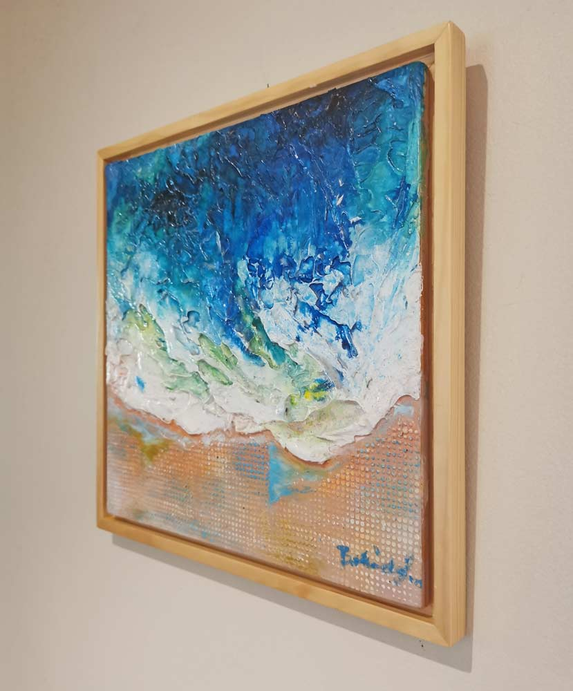 Beach Painting, Ocean Wave by Belinda Lindhardt, Central Coast NSW