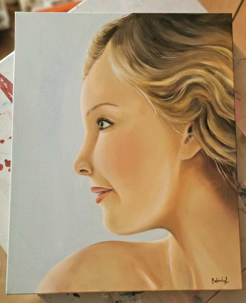 Beyond the bounds- Original Figurative Painting