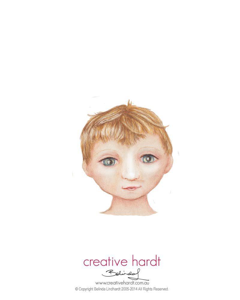 Boy Face Illustration - Belinda Lindhardt - Australian Artist & Illustrator