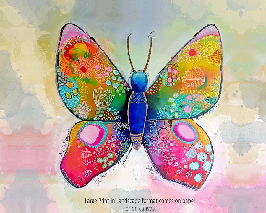 Butterfly Art Print - Landscape - Large