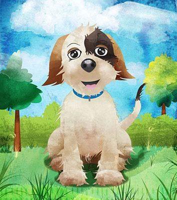 Instructional Character Illustration - Dog Training