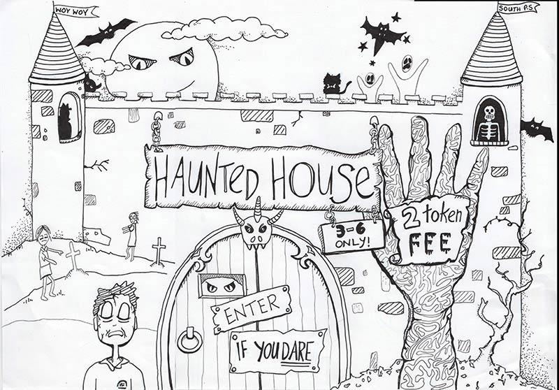 Kids Halloween Poster Illustration - Belinda Lindhardt - Illustrator Central Coast NSW
