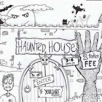 Haunted House Illustration - Characters - creativehardt studio