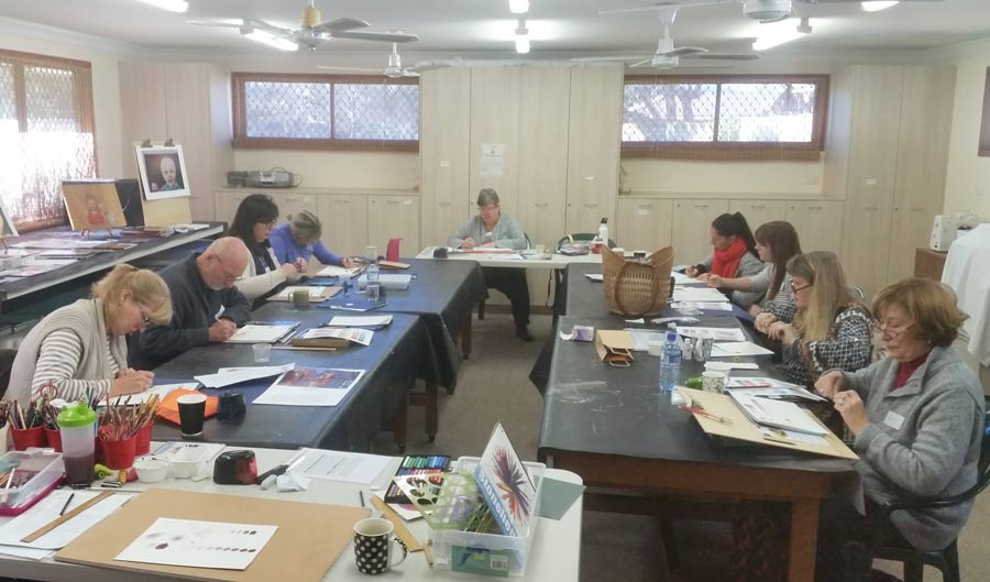 Beginners 1 Day Coloured Pencil Workshop – June 2018
