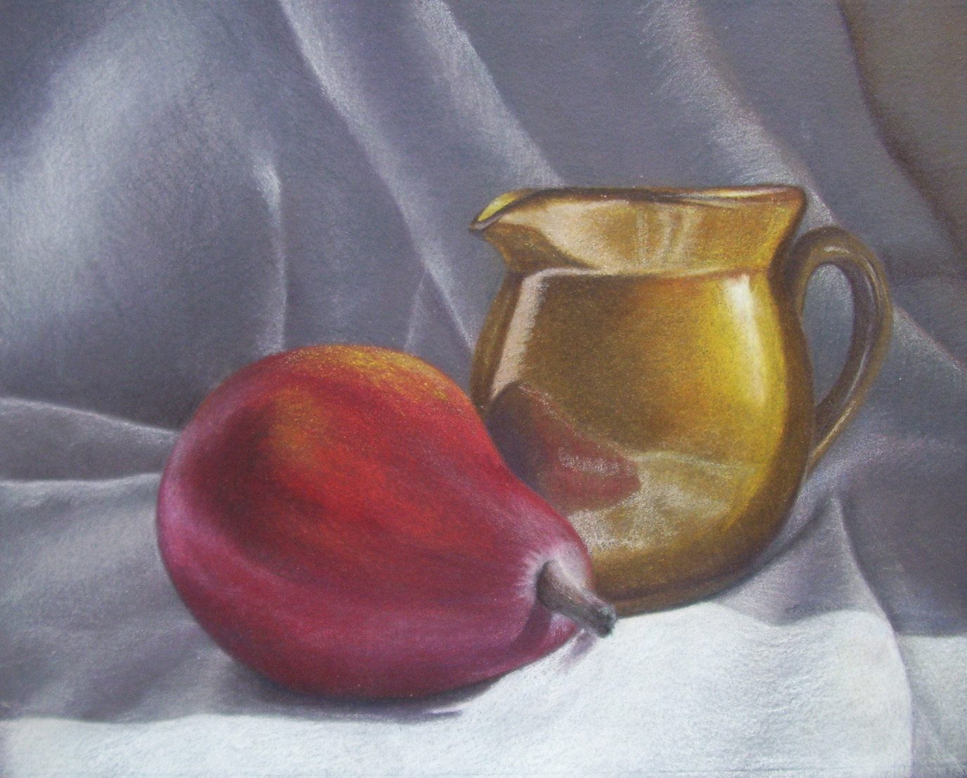 Yellow Jug - Coloured Pencil Artwork by Australian Artist Belinda Lindhardt