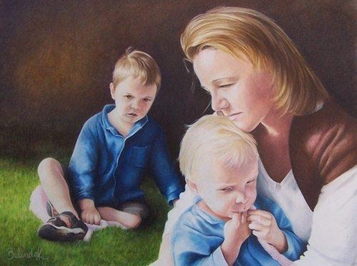 Gathering Strength Coloured Pencil Portrait Artwork by Australian Artist Belinda Lindhardt