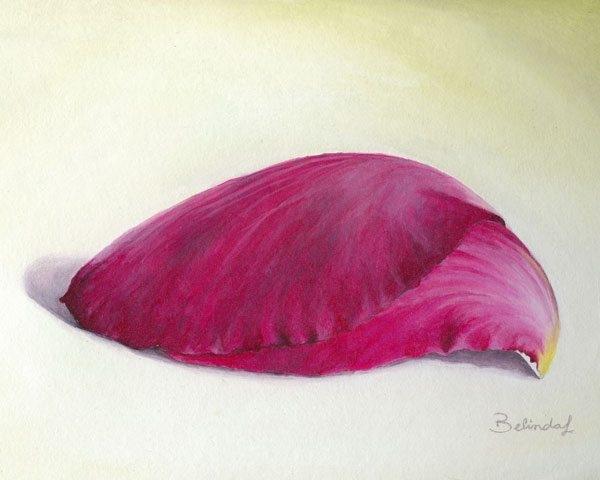 Pink Petal Painting Artwork by Australian Artist Belinda Lindhardt