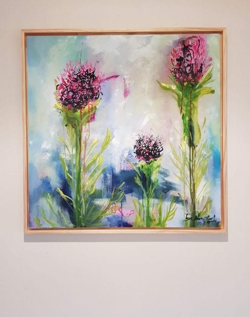 Contemporary Floral Art for sale - Floral Beauties by Artist Belinda Lindhardt