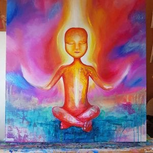 Enlightened Being - Spiritual Paintings by Belinda Lindhardt