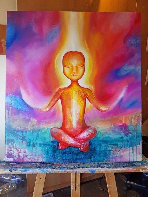 Enlightened Being - Spiritual Paintings by Belinda Lindhardt