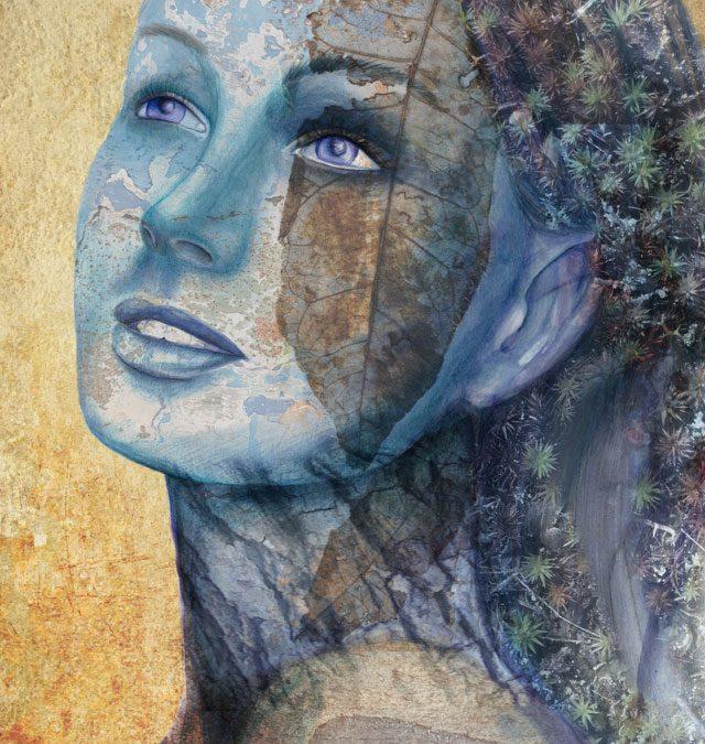 Traditional & Digital Illustration - Face - Belinda Lindhardt - Art Print