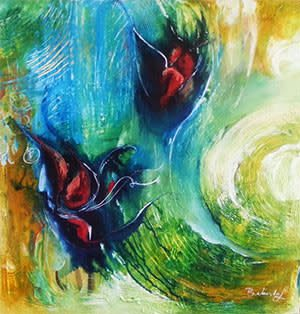 Floral - Semi Abstract Art - Belinda Lindhardt
