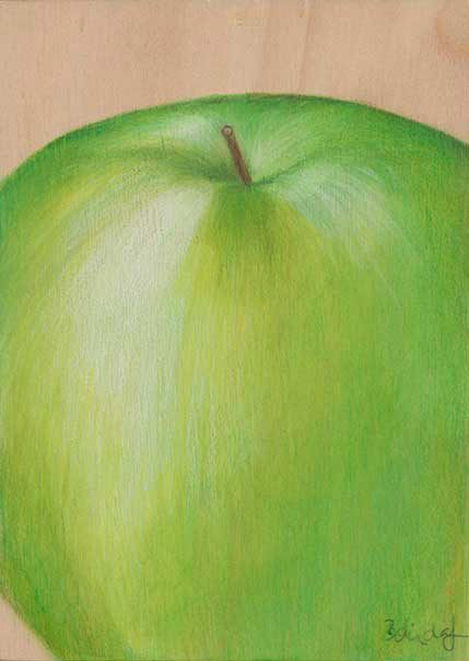 Realism Apple Artwork by Belinda Lindhardt