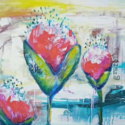 Original Floral Painting - Belinda Lindhardt