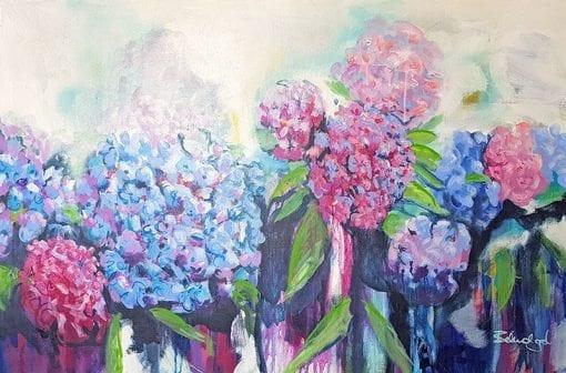 Hydras - Painting by Belinda Lindhardt - Floral Painting