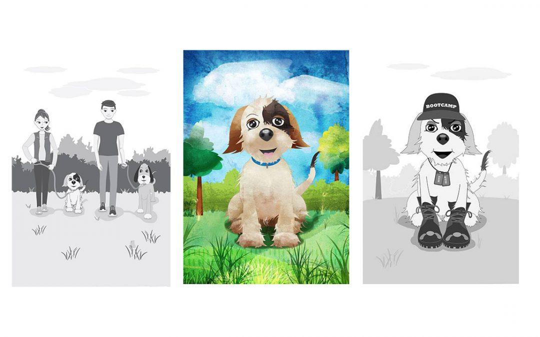 Book Instructional Illustration - Central Coast NSW, Sydney - Belinda Lindhardt Illustrator Dogs