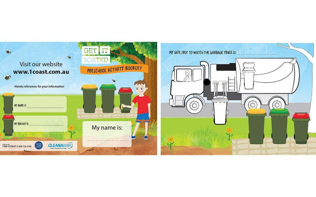 Kids Colouring Sheet Illustration - Kids, Cleanaway -  Belinda Lindhardt - Central Coast NSW, Sydney