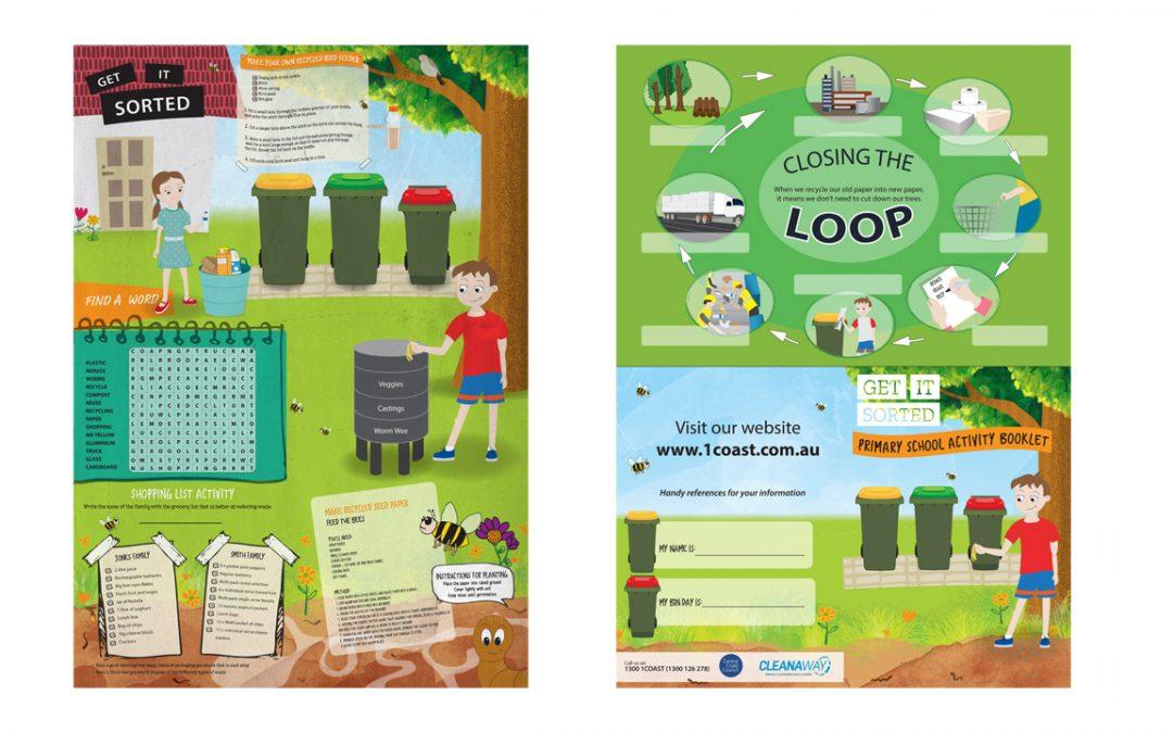 Kids Activity Sheet Illustration A1 - Kids, Cleanaway -  Belinda Lindhardt - Central Coast NSW, Sydney