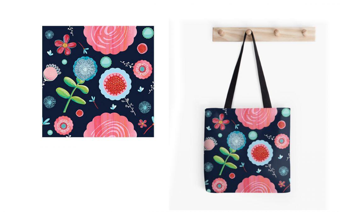Surface Pattern Designer, Illustration - Florals - Belinda Lindhardt - Central Coast NSW