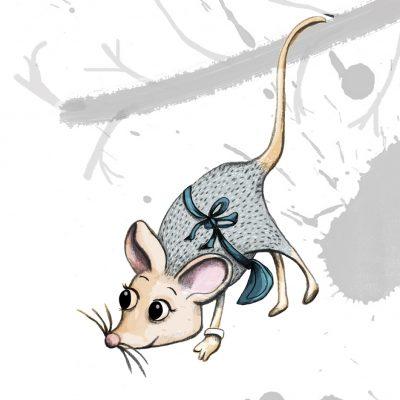 Mouse illustration - Characters- creativehardt studio