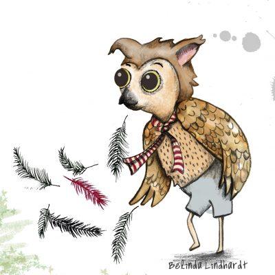 Owl illustration - Characters- creativehardt studio