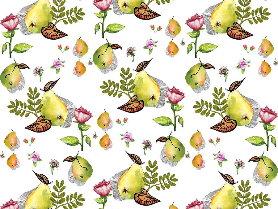 New Pattern Illustration Play – Pears
