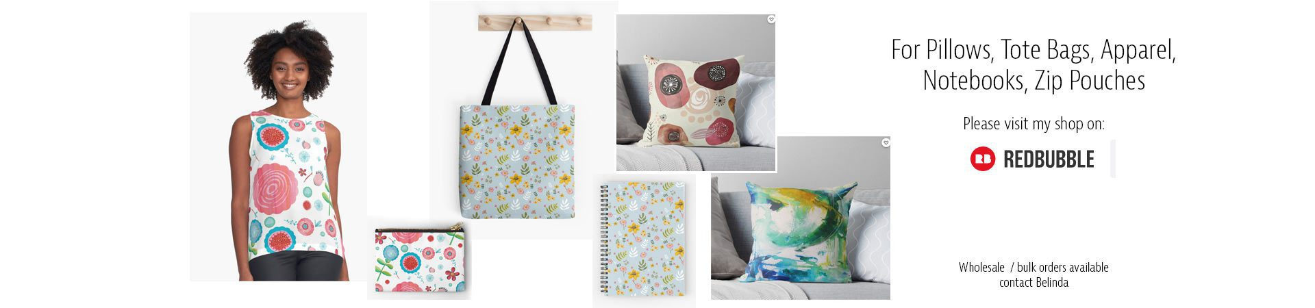 Shop for pillows, tote bags, at RedBubble