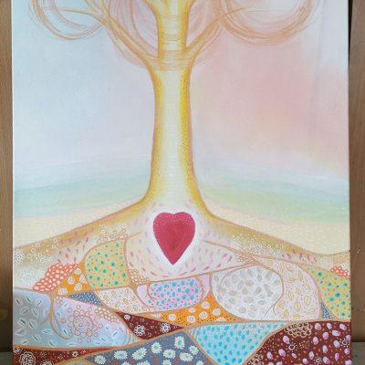 Spiritual Paintings - Calm Groundings - Sydney Artist - Belinda Lindhardt