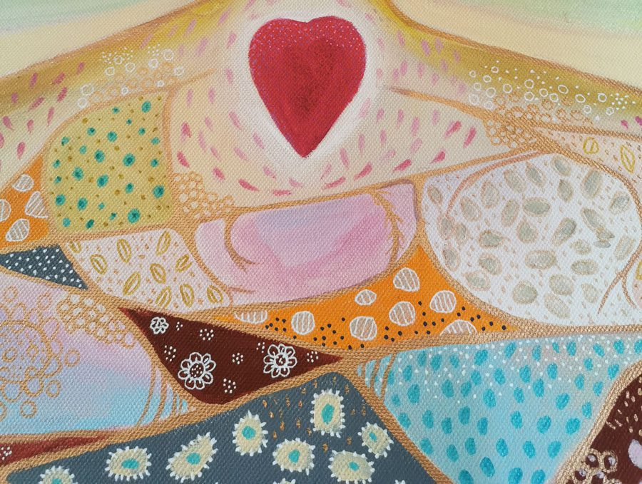 Spiritual Paintings - Calm Groundings - Sydney Artist - Belinda Lindhardt