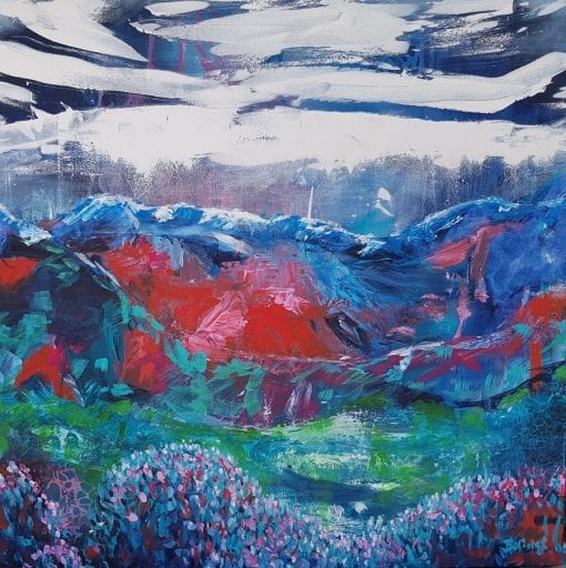 The Journey - Contemporary Landscape Painting by Belinda Lindhardt, Central Coast NSW