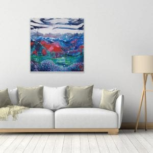 Abstract Landscape Painting for Sale - The Journey by Belinda Lindhardt