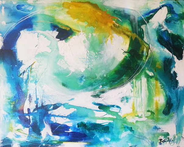 Underwater - Abstract art by Australian Artist Beilnda Lindhardt