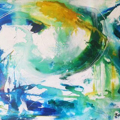 Underwater - Abstract Art by Belinda Lindhardt