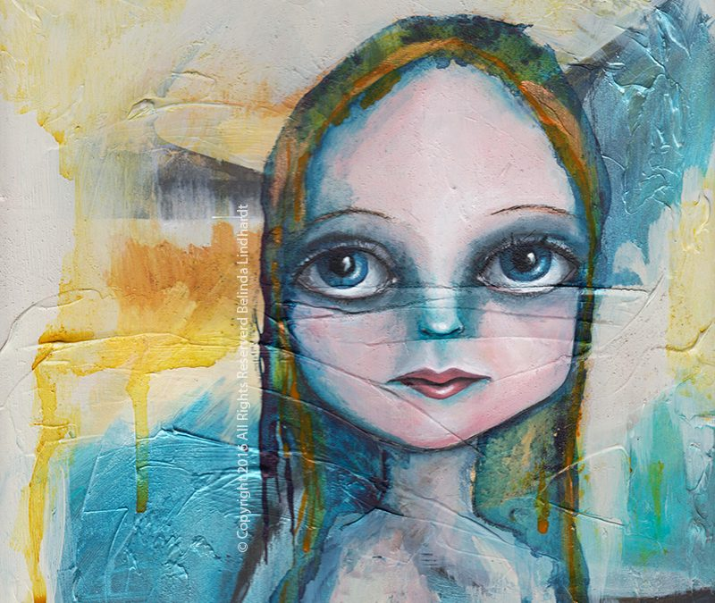 Contemporary Austrailan Artist Belinda Lindhardt - Wednesday Portrait