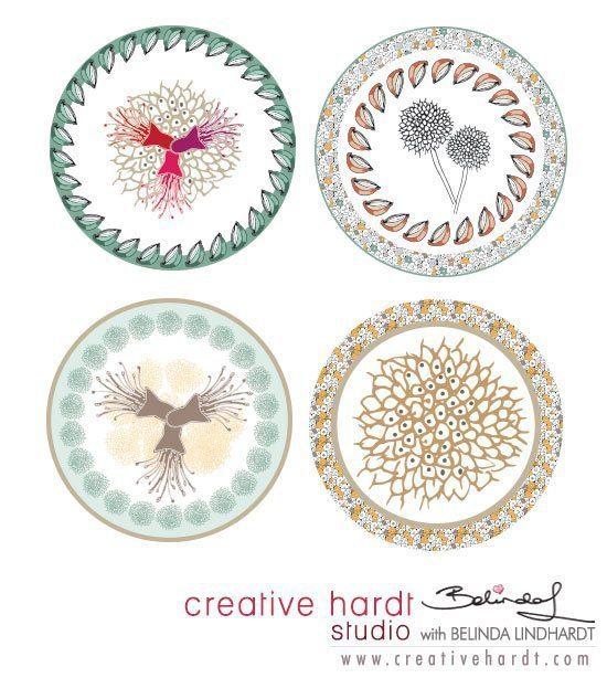 Plate Design - Belinda Lindhardt - Australian Artist & Illustrator